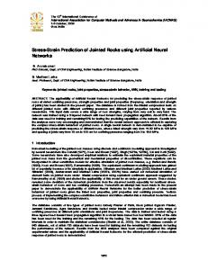 Stress-Strain Prediction of Jointed Rocks using Artificial Neural Networks