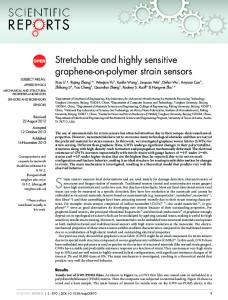Stretchable and highly sensitive graphene-on-polymer strain sensors