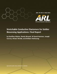 Stretchable Conductive Elastomers for Soldier Biosensing Applications