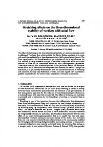 Stretching effects on the three-dimensional stability of ... - CiteSeerX