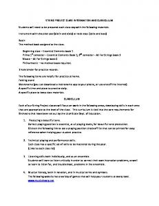 STRING PROJECT CLASS INFORMATION AND CURRICULUM ...