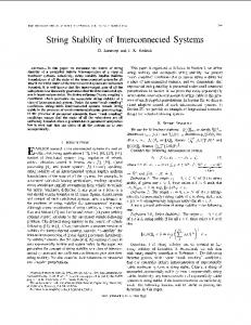 String Stability of Interconnected Systems - Semantic Scholar