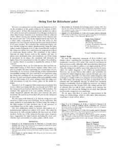 String Test for Helicobacter pylori