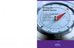 Striving for Student Success - mdrc