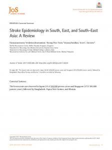 Stroke Epidemiology in South, East, and South-East ...