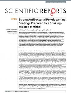 Strong Antibacterial Polydopamine Coatings