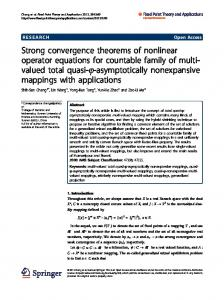 Strong convergence theorems of nonlinear operator equations for ...
