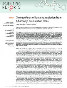 Strong effects of ionizing radiation from Chernobyl on mutation rates