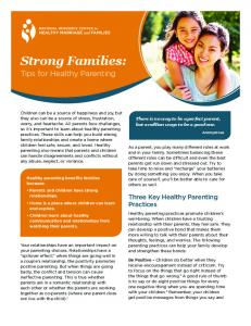 Strong Families: Tips for Healthy Parenting - SmartCouples