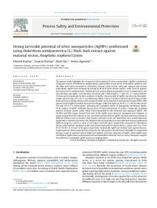 Strong larvicidal potential of silver nanoparticles ...
