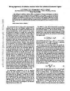 Strong signatures of radiation reaction below the radiation-dominated ...
