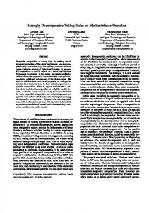 Strongly Decomposable Voting Rules on ... - Computer Science