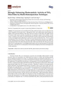 Strongly Enhancing Photocatalytic Activity of TiO2 Thin Films by Multi