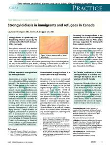 Strongyloidiasis in immigrants and refugees in Canada