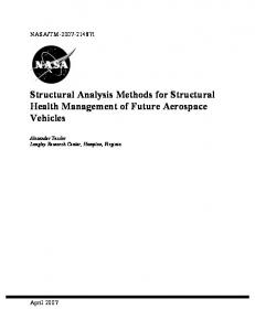 Structural Analysis Methods for Structural Health ... - CiteSeerX