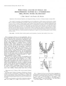structural analysis of female and hermaphroditic flowers of a ...