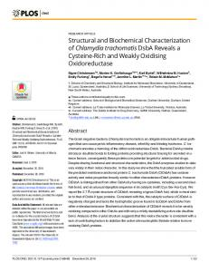 Structural and Biochemical Characterization of