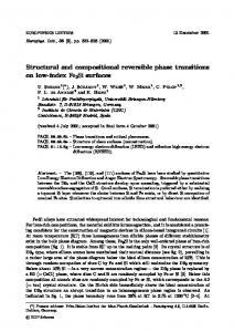 Structural and compositional reversible phase transitions on low-index