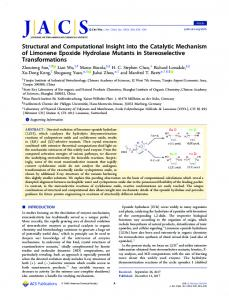 Structural and Computational Insight into the ... - ACS Publications