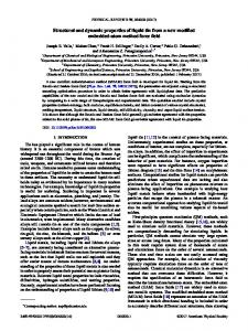 Structural and dynamic properties of liquid tin ... - APS Link Manager