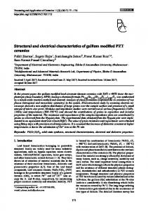 Structural and electrical characteristics of gallium modified PZT ceramics