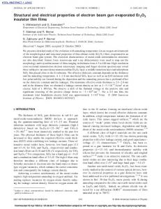 Structural and electrical properties of electron beam gun evaporated ...