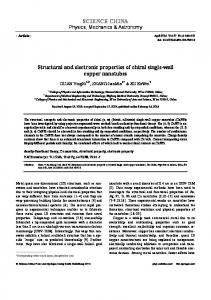 Structural and electronic properties of chiral single-wall copper ...
