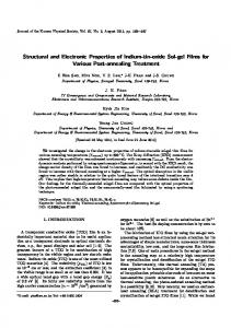 Structural and Electronic Properties of Indium-tin-oxide ... - Springer Link