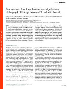 Structural and functional features and significance of the ... - CiteSeerX