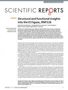 Structural and functional insights into the E3 ligase ... - Semantic Scholar