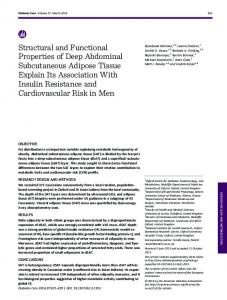 Structural and Functional Properties of Deep ...