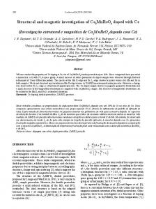 Structural and magnetic investigation of Ca MnReO