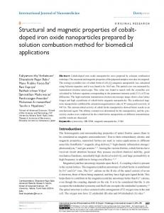 Structural and magnetic properties of cobalt