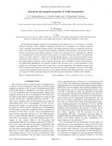 Structural and magnetic properties of CoRh nanoparticles