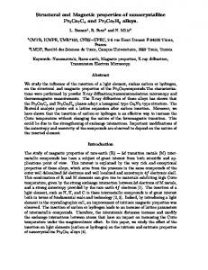 Structural and Magnetic properties of nanocrystalline ...