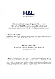 Structural and magnetic properties of the - Hal