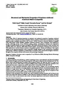 Structural and Mechanical Properties of Graphene reinforced ...