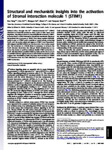 Structural and mechanistic insights into the activation of Stromal ...