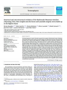 Structural and microstructural evolution of the Rattlesnake ... - CiteSeerX