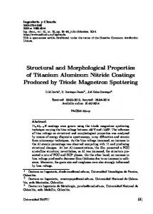Structural and Morphological Properties of Titanium ... - Dialnet