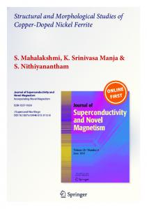 Structural and Morphological Studies of Copper ...