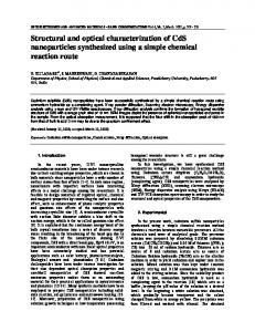 Structural and optical characterization of CdS nanoparticles ... - OAM-RC