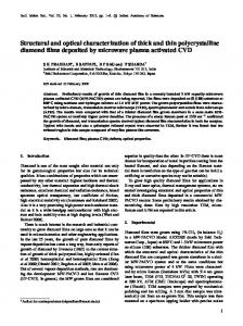 Structural and optical characterization of thick and thin polycrystalline ...