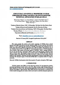 STRUCTURAL AND OPTICAL PROPERTIES IN ...