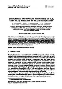 STRUCTURAL AND OPTICAL PROPERTIES OF ...