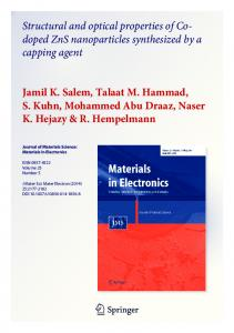 Structural and optical properties of Co- doped ZnS ...