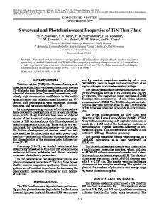 Structural and Photoluminescent Properties of TiN Thin ... - Springer Link