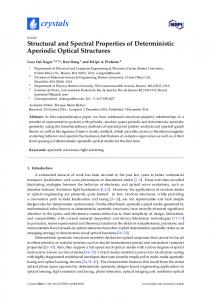 Structural and Spectral Properties of Deterministic
