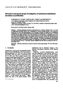 Structural and spectroscopic investigation of lanthanum ... - CiteSeerX