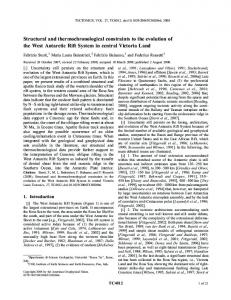 Structural and thermochronological constraints ... - Wiley Online Library
